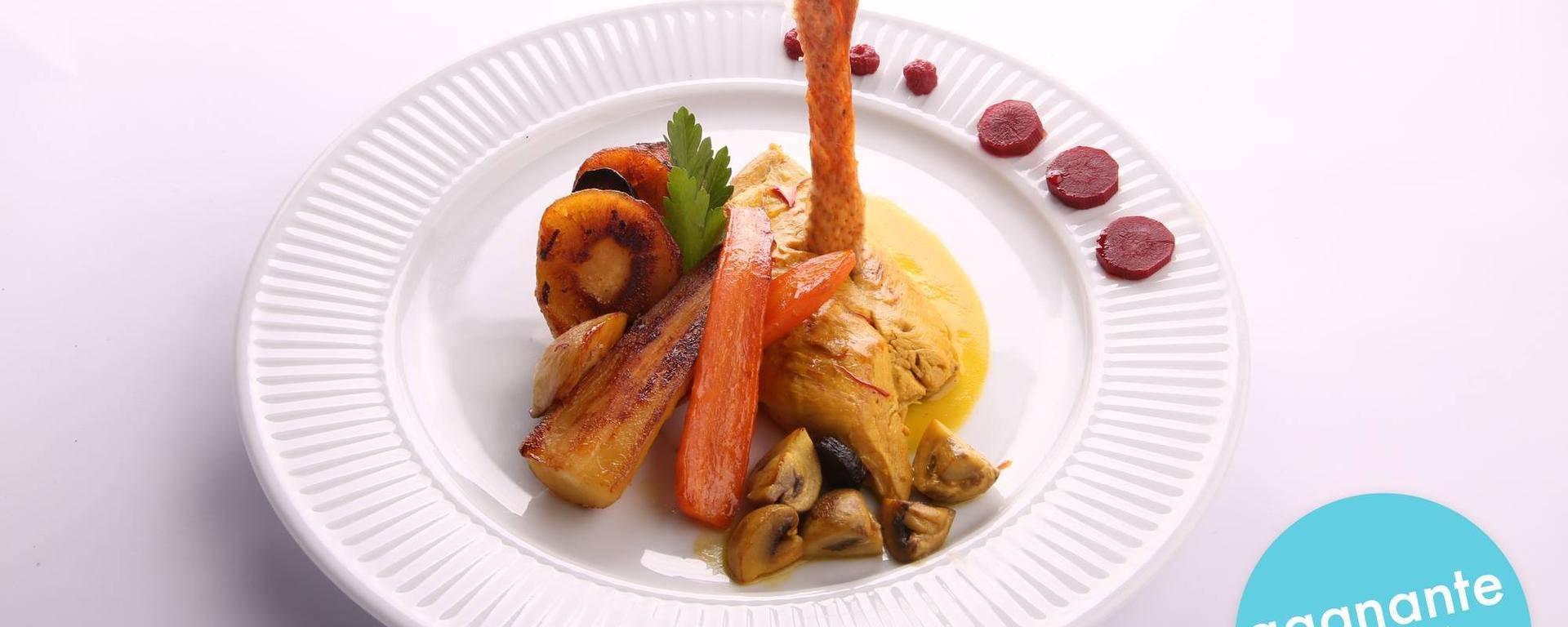 Volaille cuisinée au safran