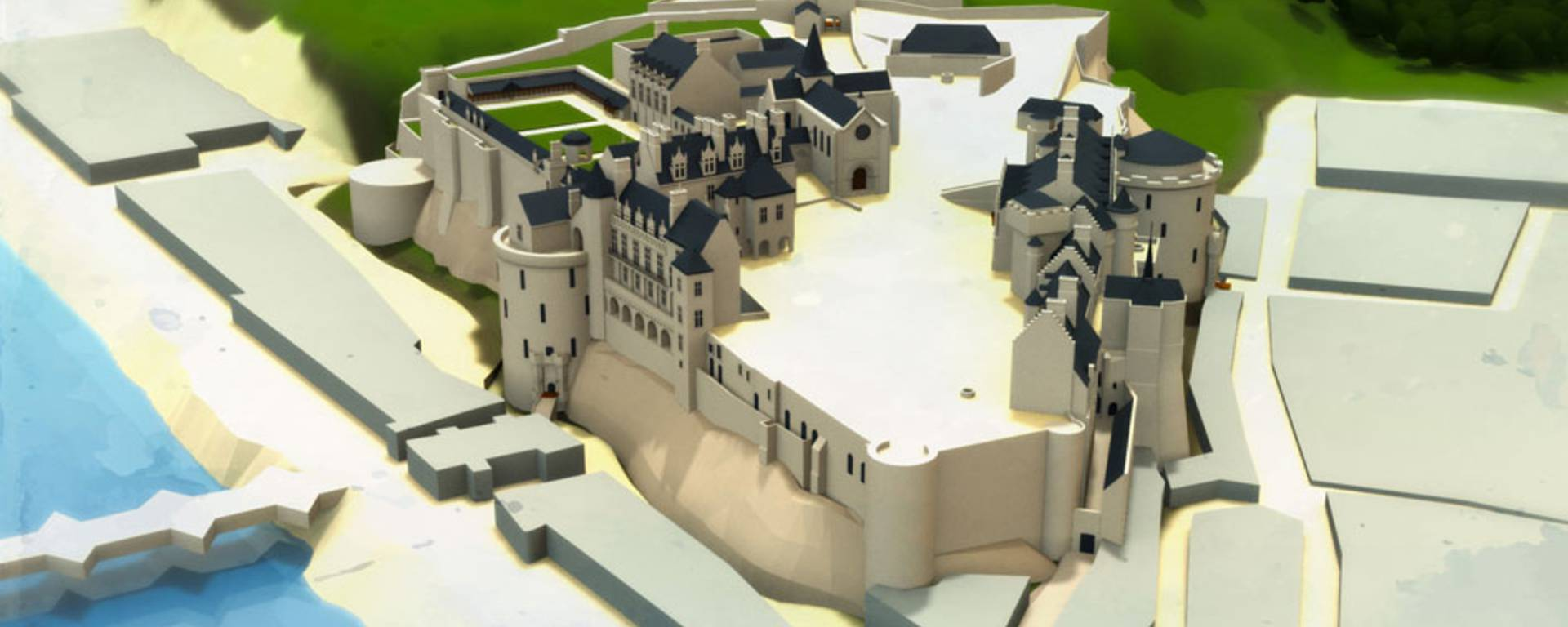 Le château au temps de Louis-Philippe
