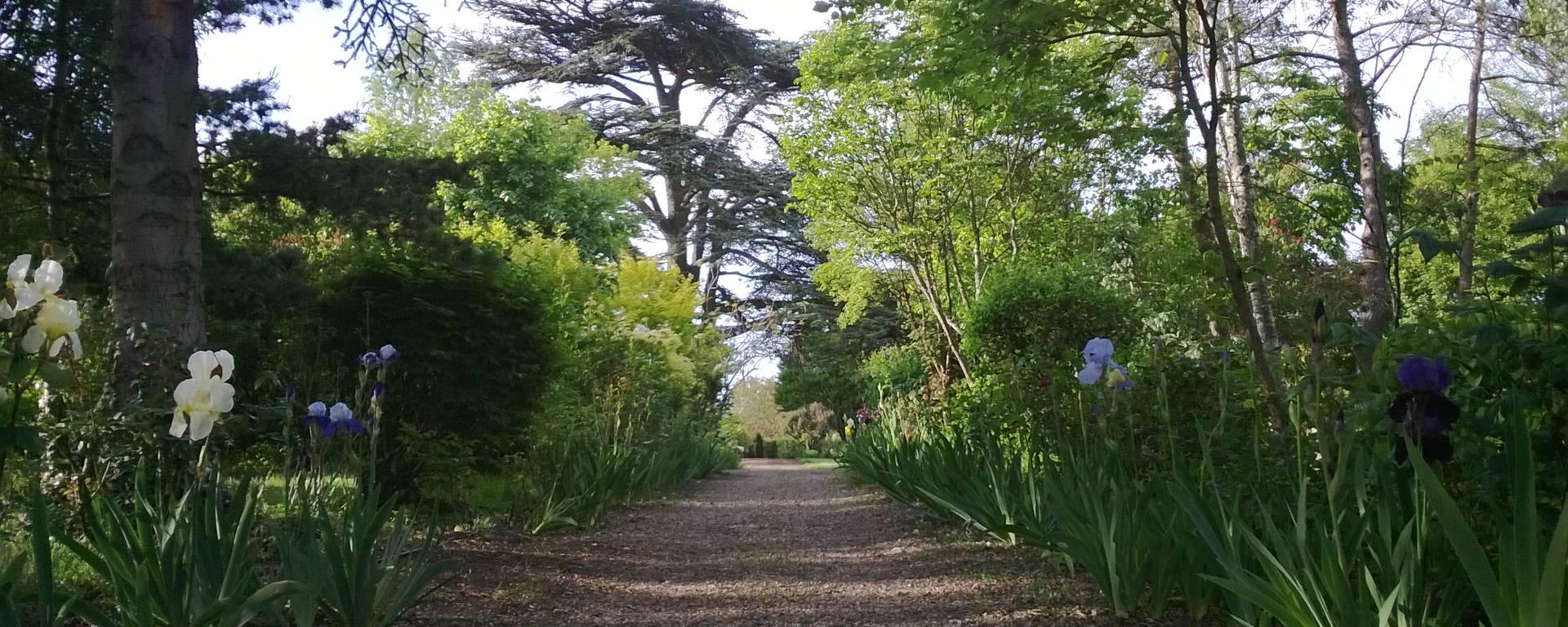 Les jardins du prieuré d'Orchaise près de Blois