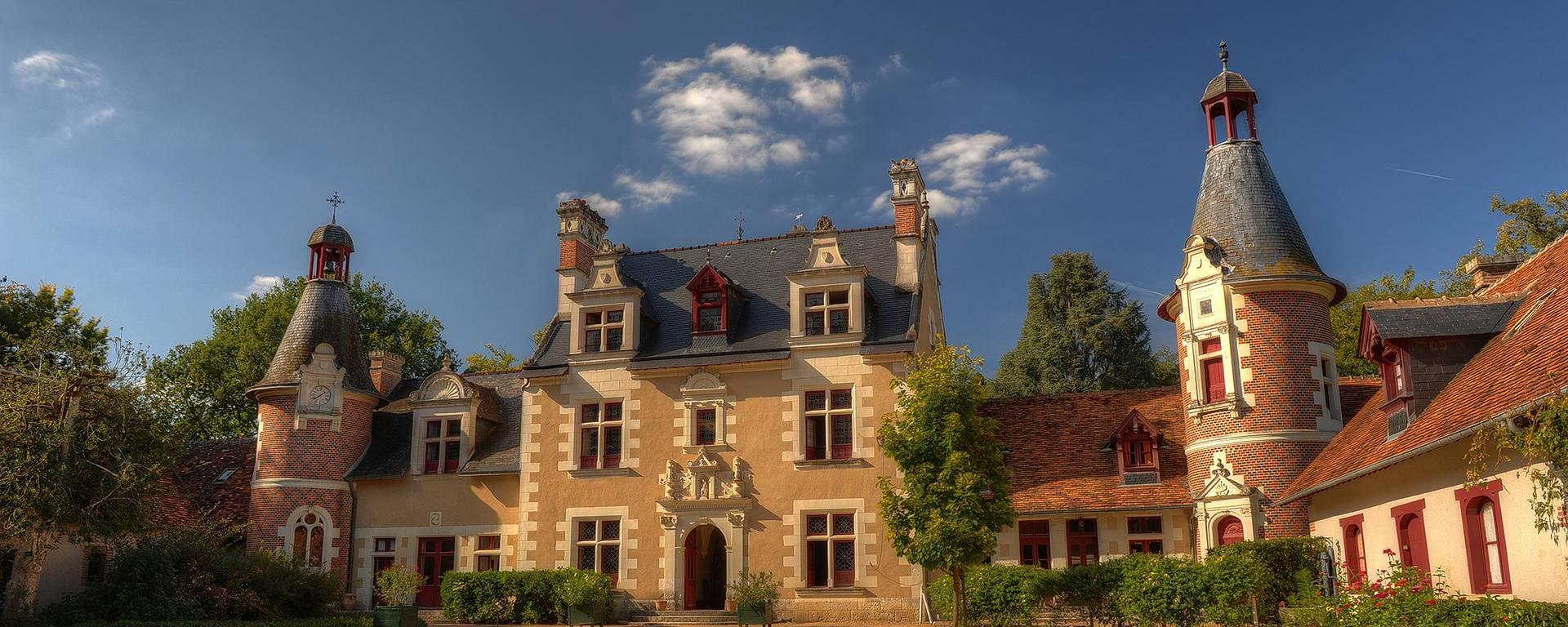 La cour du château de Troussay