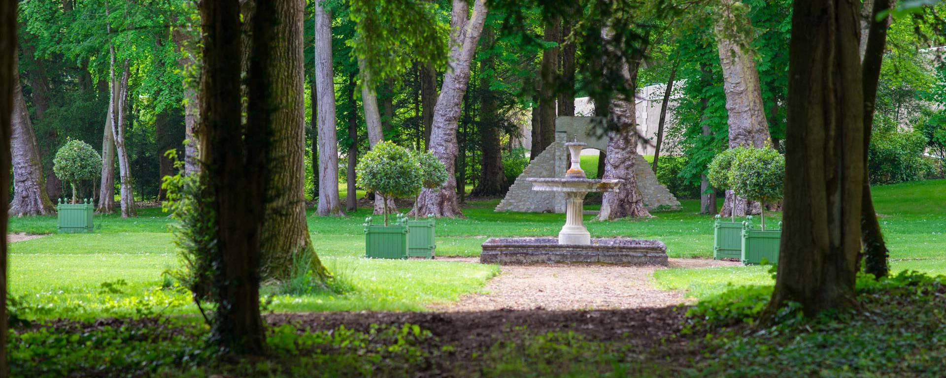 Les jardins renaissance de Château Gaillard. © OTBC