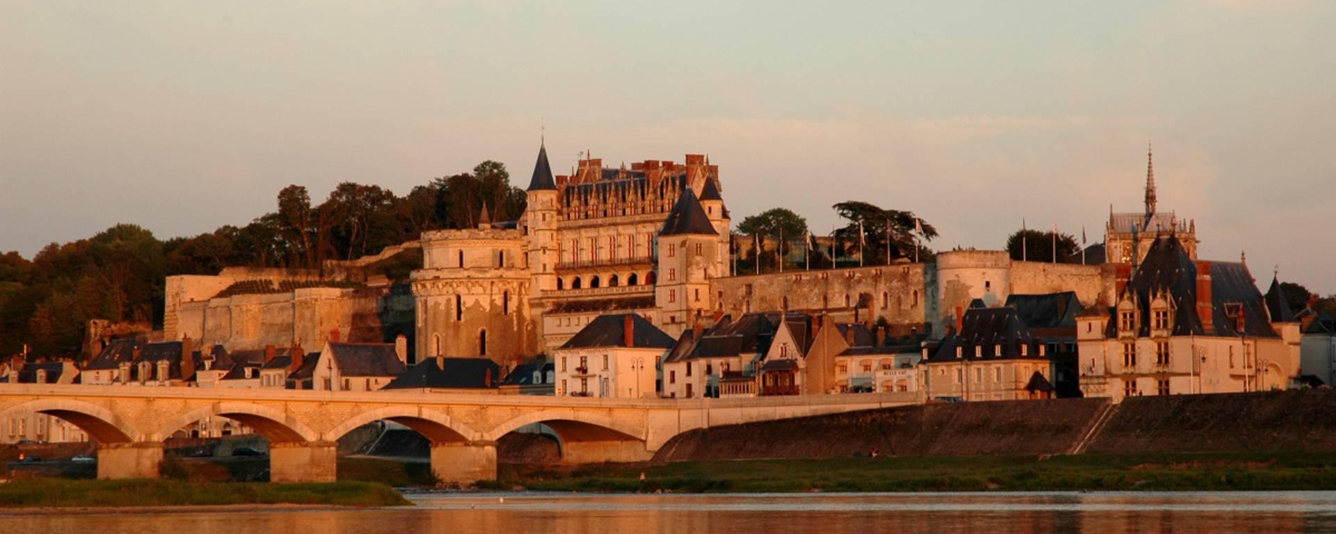 Vue générale du château d'Amboise. © JF Le Scour