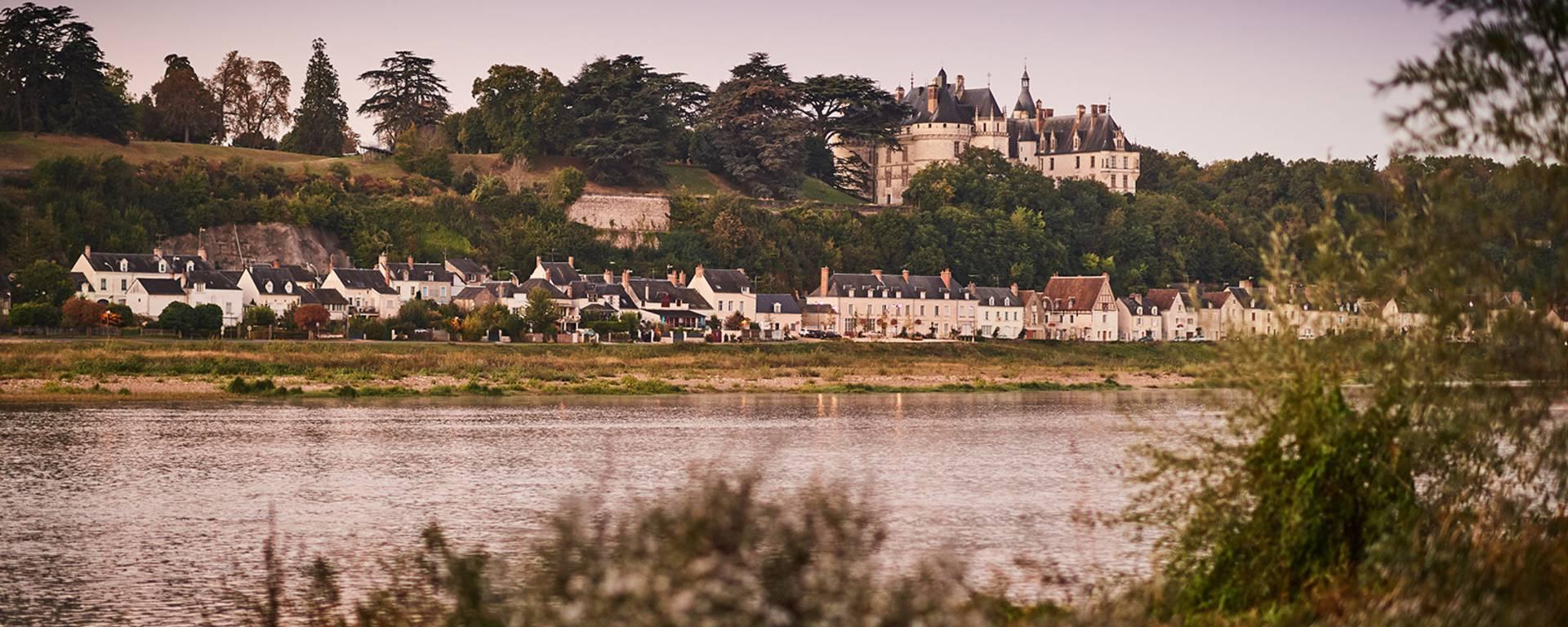 La Loire aux pieds du château de Chaumont-sur-Loire