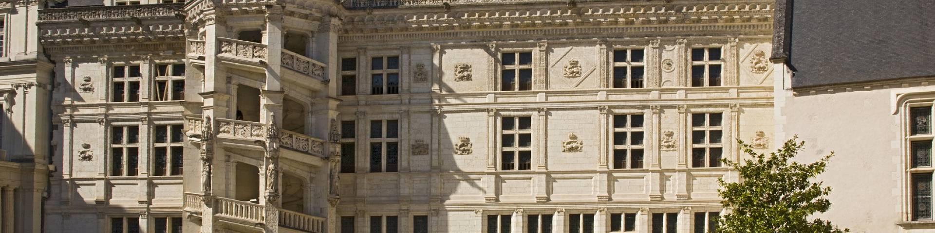 La cour intérieure du château de Blois