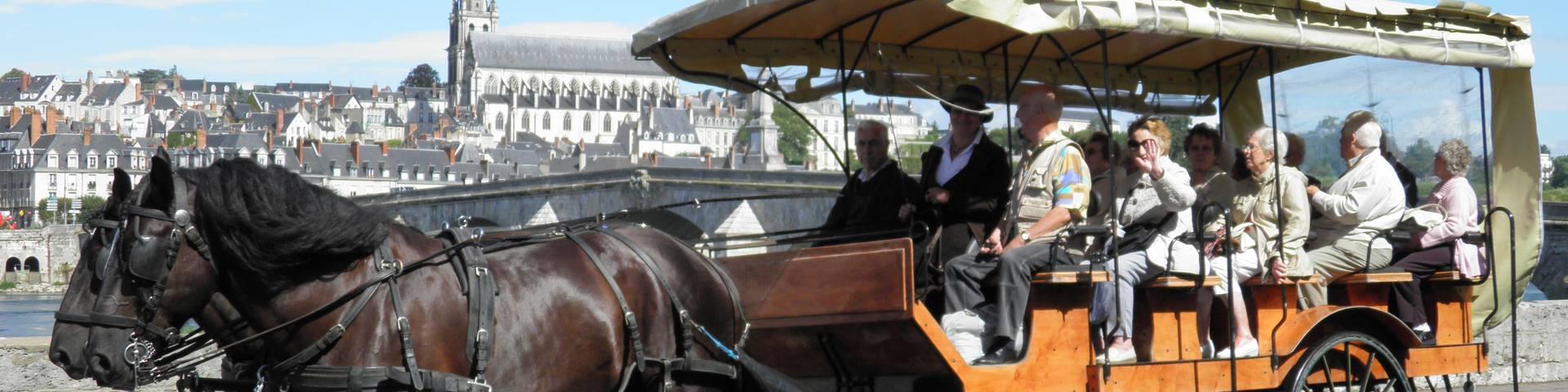Promenade en calèche avec Attelage de prestige à Blois. © OTBC