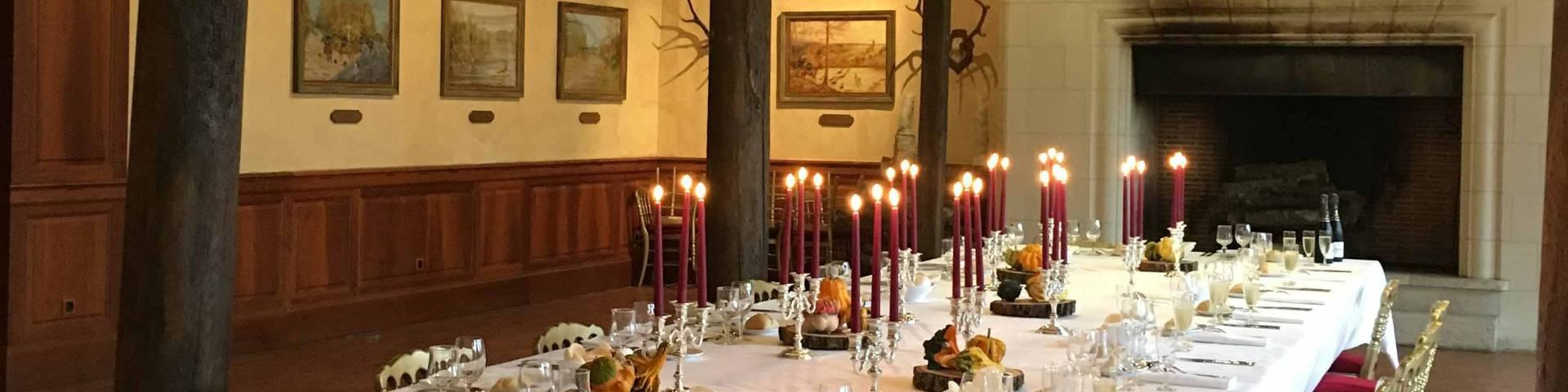 dîner au château de Cheverny