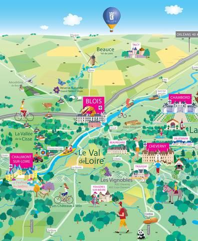 Carte Blois-Chambord Val de Loire