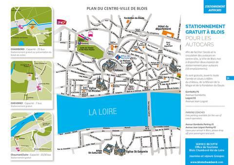 Plan parking autocars Blois