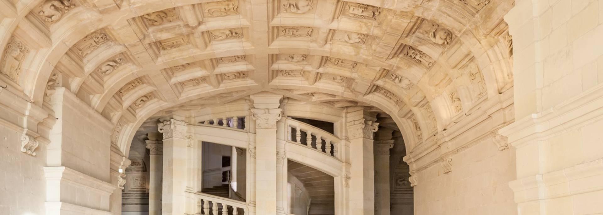 L'escalier à double révolution du château de Chambord