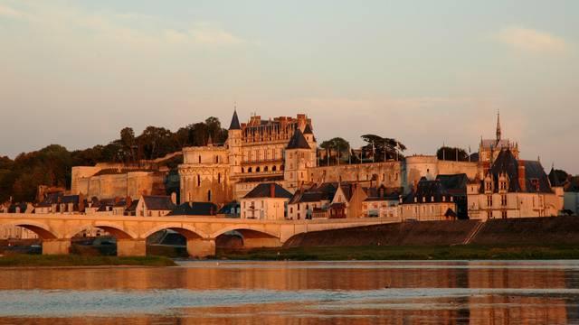 Une vue magnifique du château royal d'Amboise.