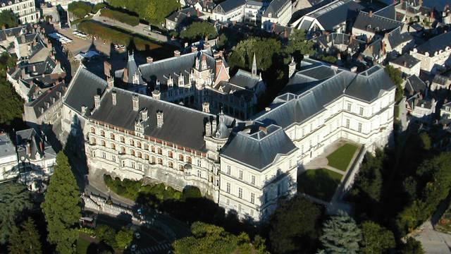 Le château de Blois vu du ciel. © OTBC