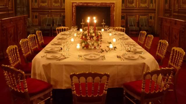 Dîner prestige au château de Cheverny. © OTBC