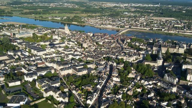 La ville de Blois vue du ciel © BloisChambord