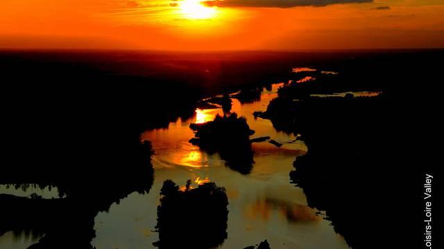Sunset vue du ciel © Loisirs Loire Valley