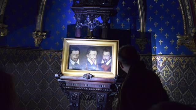 Intérieur du château royal de Blois en nocturne