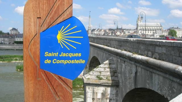La route de Saint-Jacques de Compostelle à Blois. © OTBC