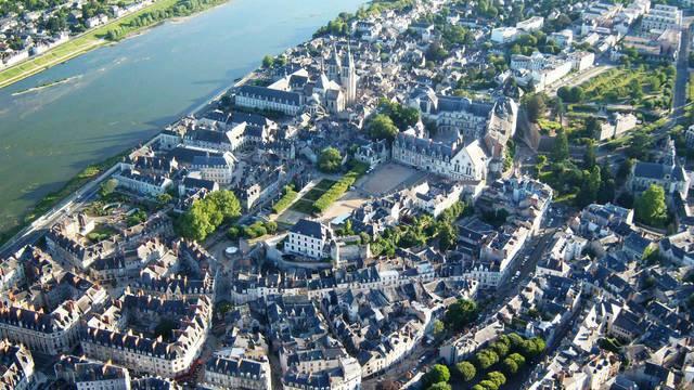 Blois vu du ciel. © OTBC
