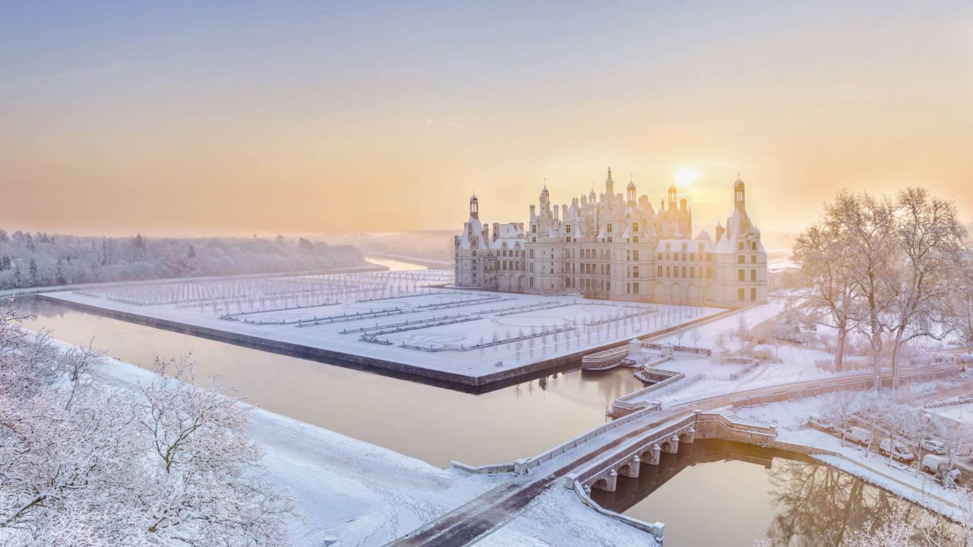 Chambord sous la neige