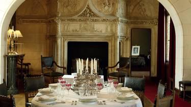 Salle à manger au château de Chaumont-sur-Loire