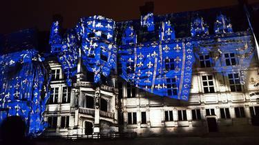 Le Son et Lumière au château royal de Blois.