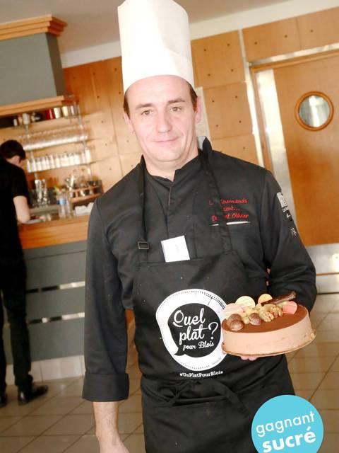 Olivier Dupont a remporté le concours sucré avec son Verger blésois. © Ville de Blois