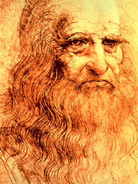 Autoportrait de Leonard de Vinci. © DR