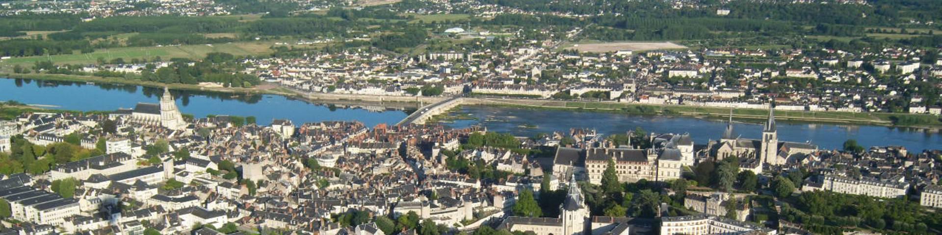 Survol de Blois en montgolfière