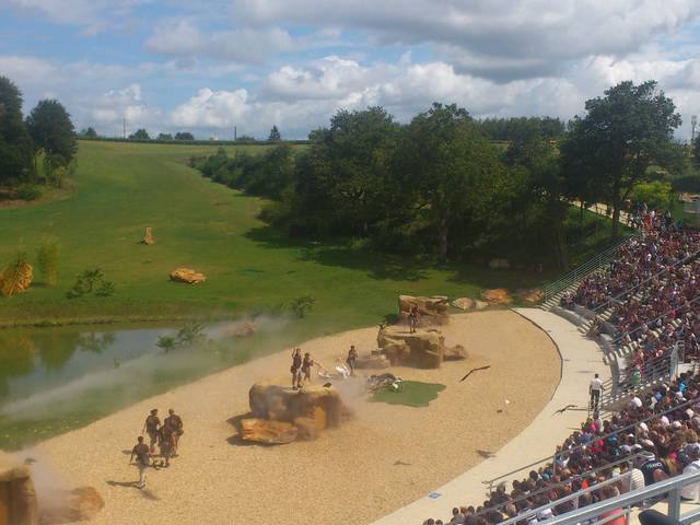 Le spectacle des rapaces au ZooParc de Beauval. © OTBC