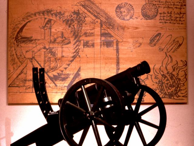 Le canon version Léonard de Vinci. © Léonard de Serres