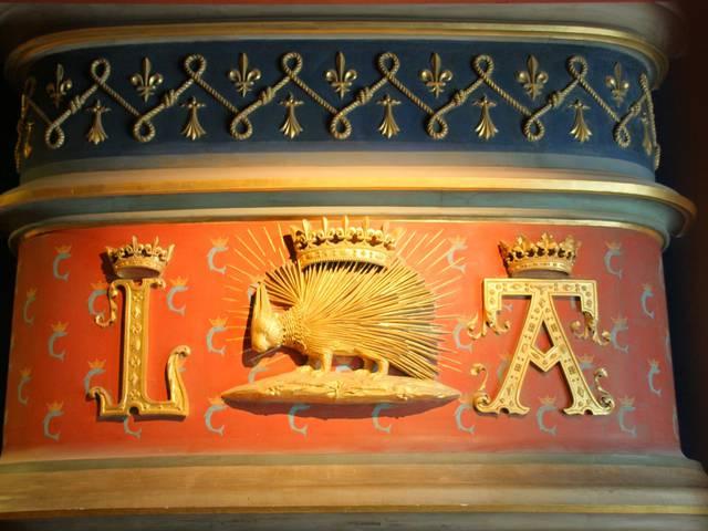 Au château de Blois, le porc-épic, emblème du roi Louis XII. © OTBC