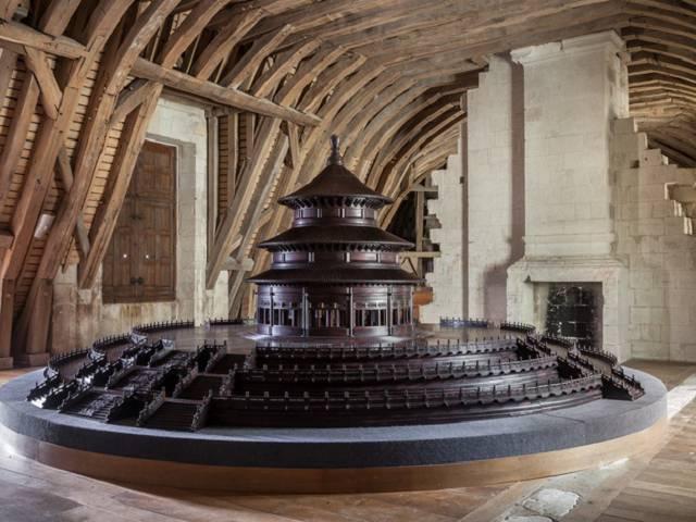 Les combles de la chapelle du château de Chambord. © DR