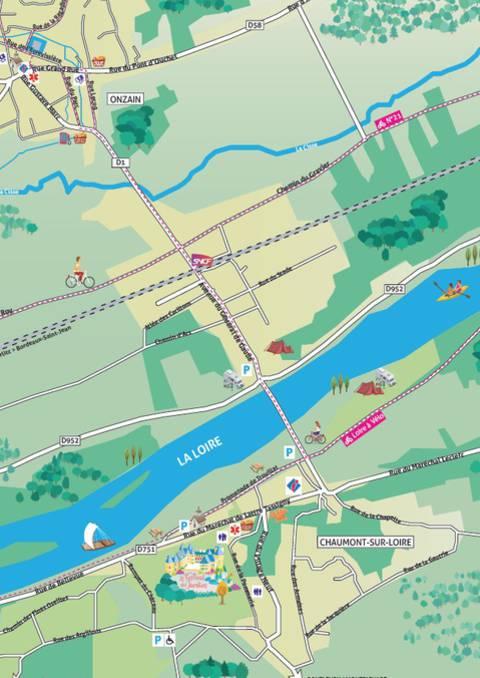 Plan de Onzain / Chaumont-sur-Loire