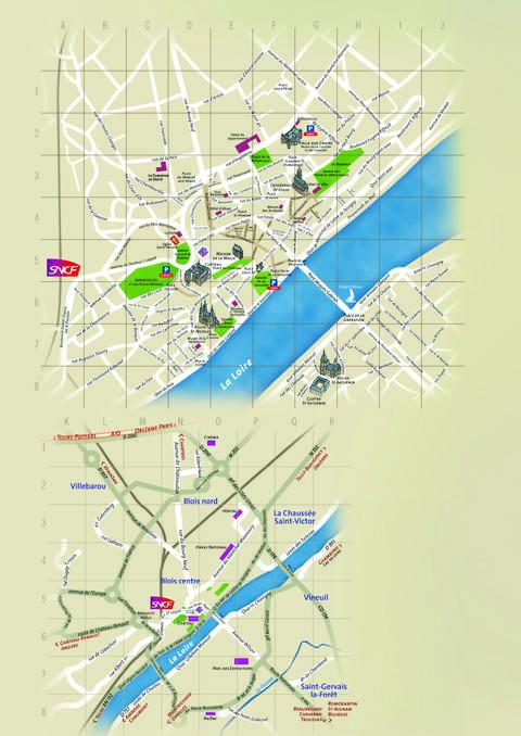 La carte du territoire Blois-Congrès