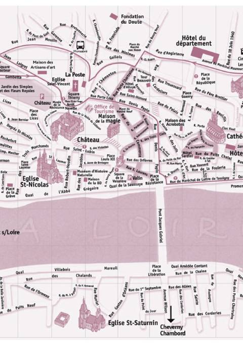 Plan de Blois - Facile à imprimer