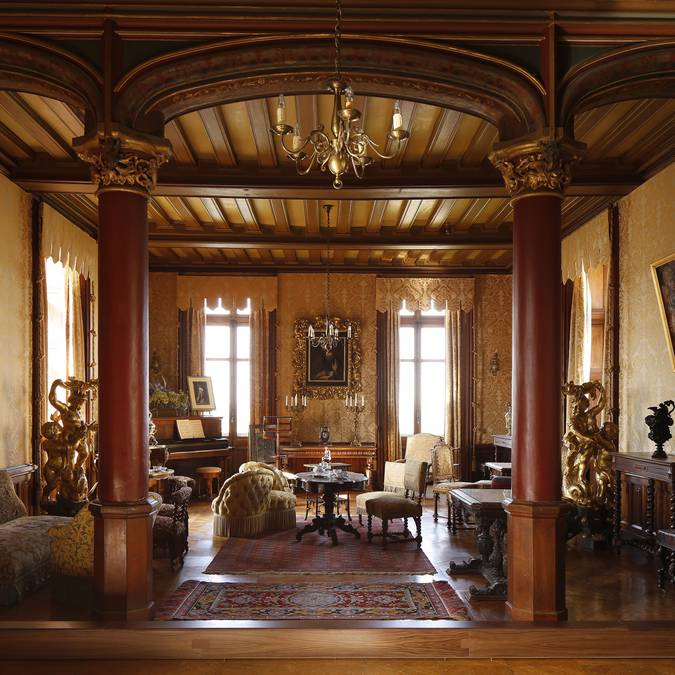 Le salon au château de Chaumont-sur-Loire