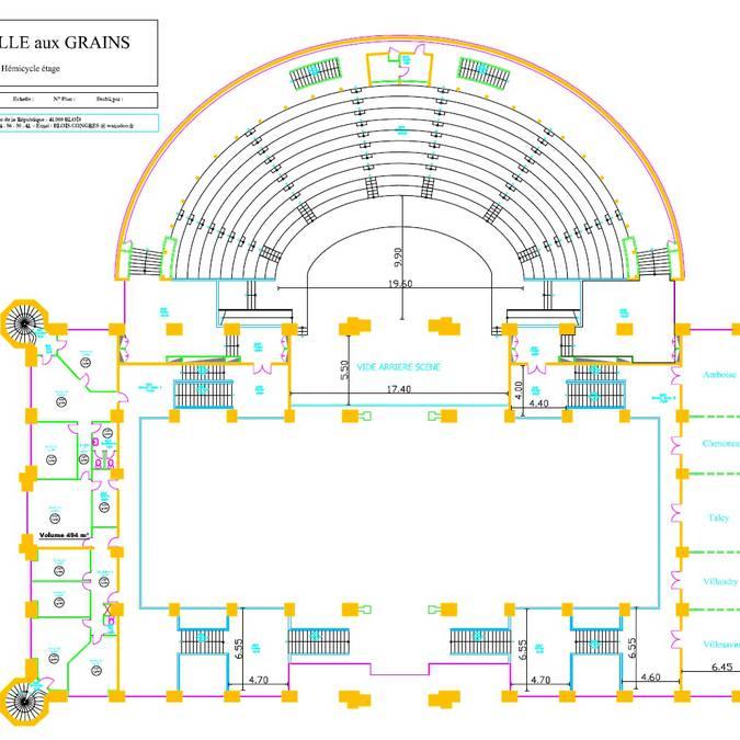 Le plan du premier étage de la Halle aux grains
