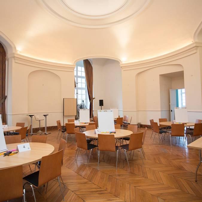 La salle Rotonde du château royal de Blois lors d'un atelier