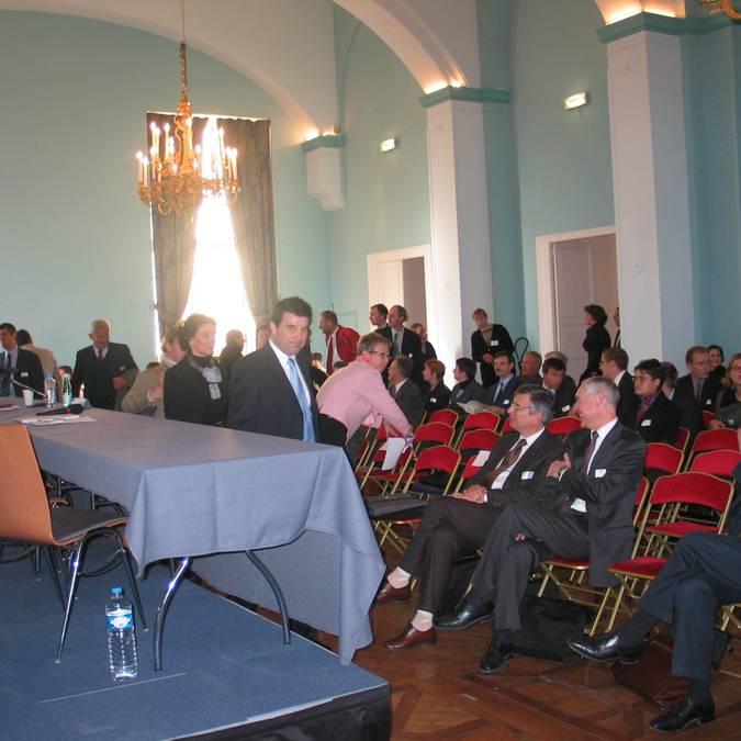 La salle Korevo du château royal de Blois lors d'une présentation