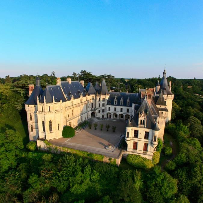 La face nord du château de Chaumont-sur-Loire. © OTBC