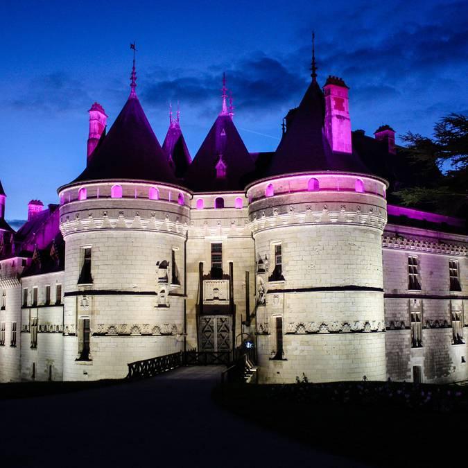 Le château de Chaumont de nuit