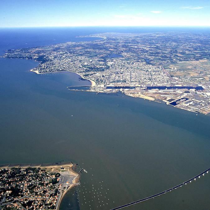 L'estuaire de la Loire à Saint-Nazaire