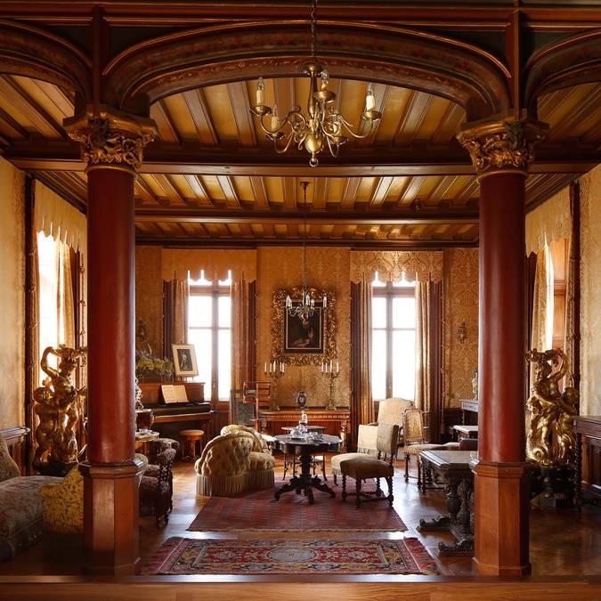 Le salon du château de Chaumont-sur-Loire