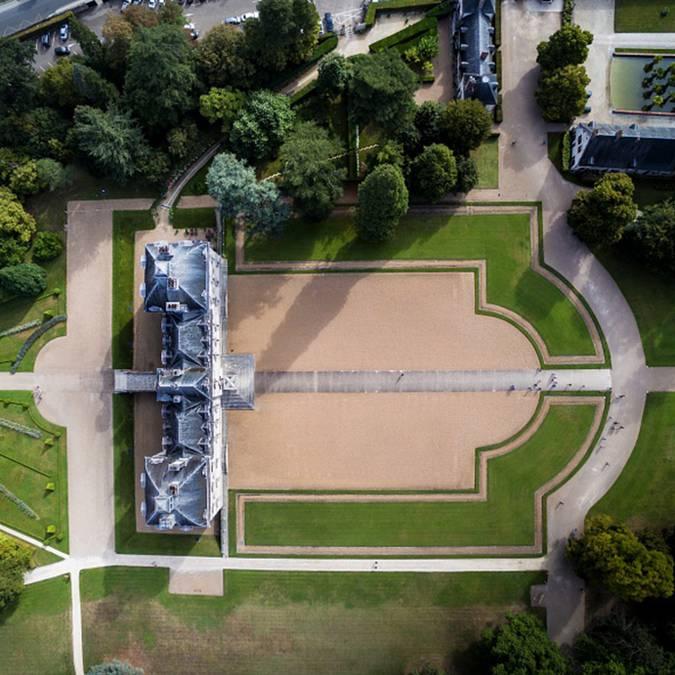 Le domaine du château de Cheverny vu du ciel