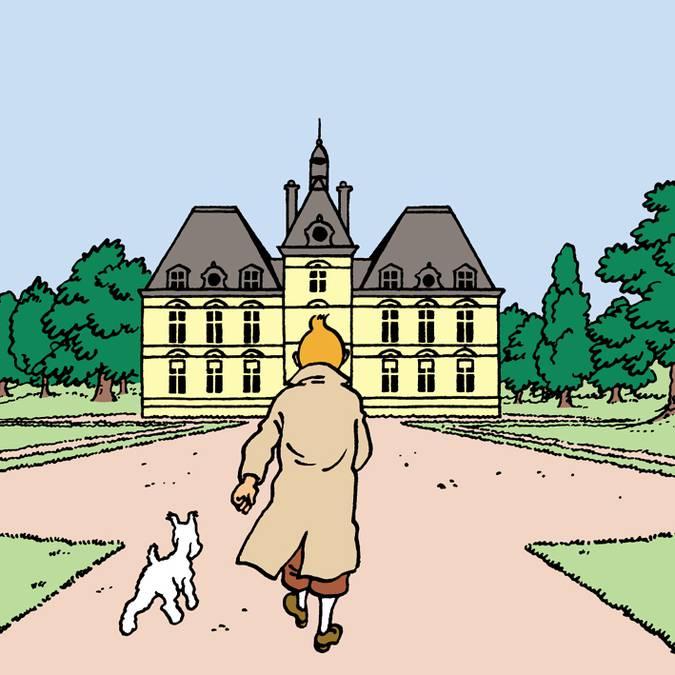Hergé s'est inspiré du château de Cheverny pour dessiner Moulinsart. © Hergé
