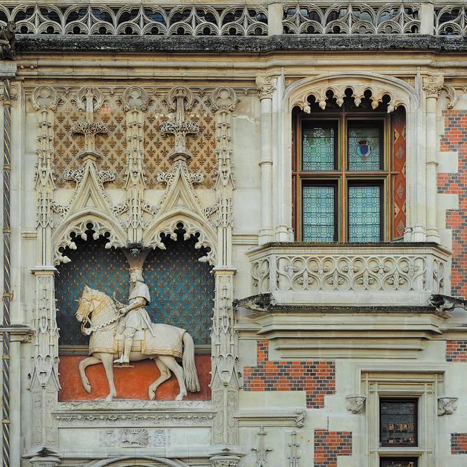 Statue Equestre Louis XII au château de Blois