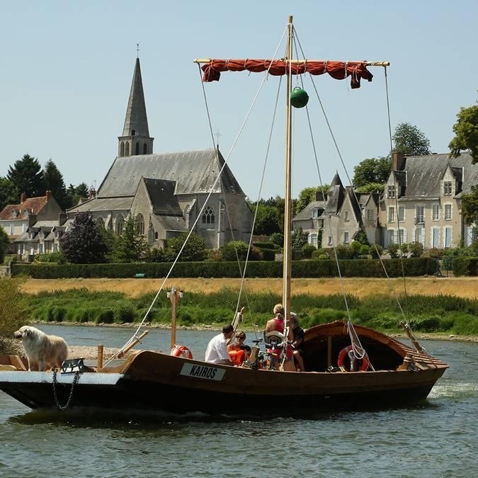 Vallée de la Loire. Bateau traditionnel