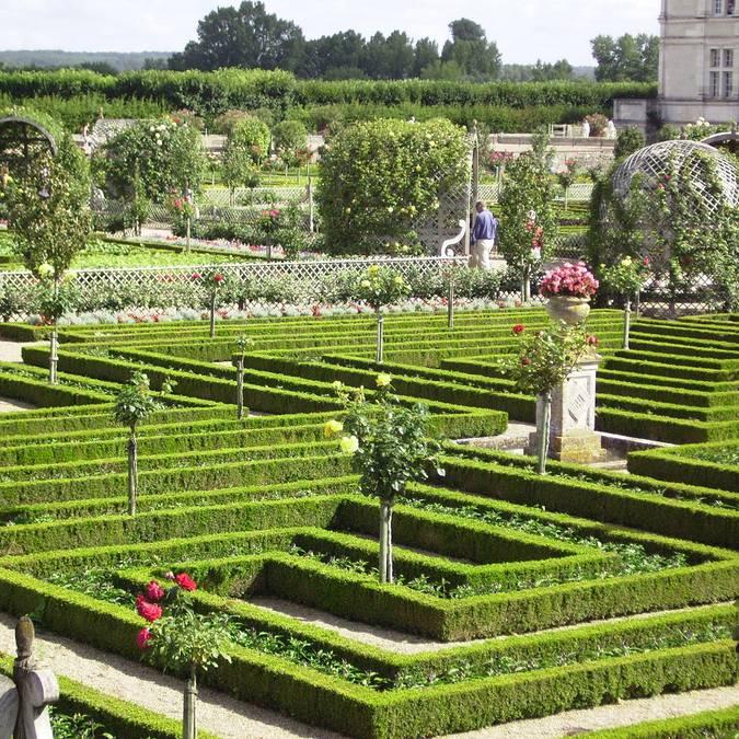 Les jardins du château de Villandry. © OTBC
