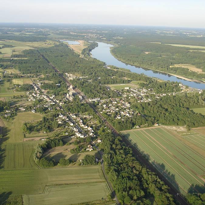 Vallée de la Loire, village d'Onzain