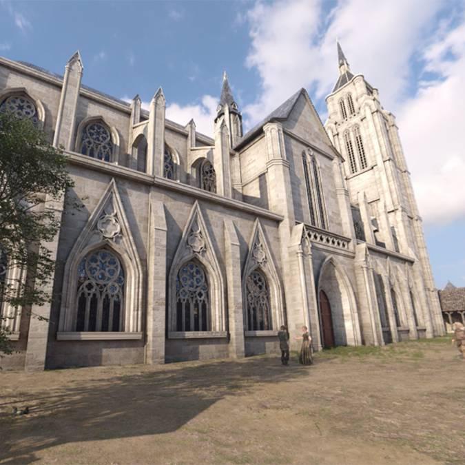 Eglise St Sauveur en 1429