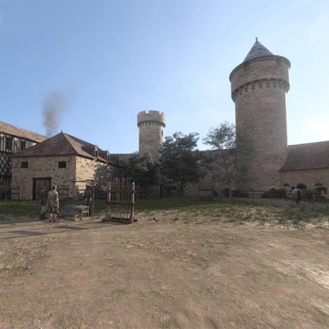 Place du château en 1429